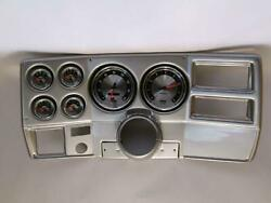 73-83 Gm Truck Silver Dash Carrier W/ Auto Meter 5 American Muscle Gauges