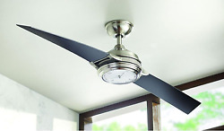 Nickel Watch Clock Light 56 Ceiling Fan Remote Unique Glossy Airplane Propeller