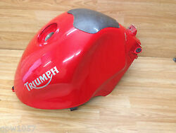 Triumph TT600 Petrol Tank In Red With Carbon Protector