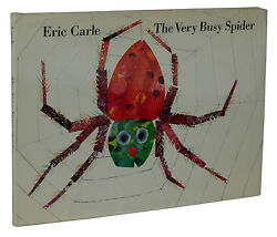 The Very Busy Spider Eric Carle First Edition 1st Printing 1984 Dust Jacket