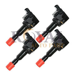 4x Ignition Coil For 2007-2008 Honda Fit 1.5l 30520pwc003 Uf-581 C1578
