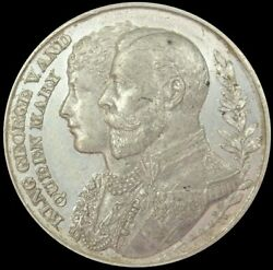 1910 Great Britain George V South Africa Parliament White Metal 38 Mm Medal