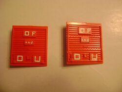 Lionel 6464-275 Solid Red Plastic State Of Maine Doors- Pkg. Of Two