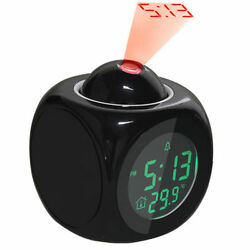 New Projection Alarm Clock Talking LCD Multi function Time amp; Temperature Display
