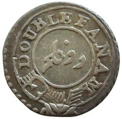 1808 Silver India Madras Presidency Double Fanam Coin Very Fine Condition