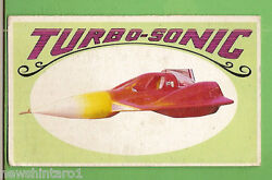 D298. 1970 Scanlens Way-out Wheels Large Card 14 Turbo - Sonic