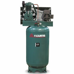 Fs-curtis Ct7.5 7.5-hp 80-gallon Two-stage Air Compressor 200-208v 3-phase