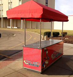 Concession style Food cart with canopy - sink electric hot & cold water - NSF