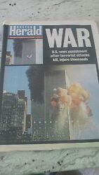 The Boston Globe-september 122001-and039new Day Of Infamy Newspaper Day After 9/11