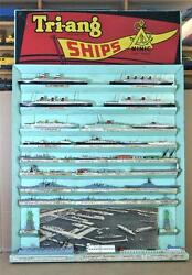 Triang Minic Ships Point Of Sale Shop Display Board With Ships And Accessories Mv