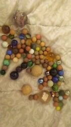 Old Collectible Playing Marbles Some Are Very Rare And Sell For Over 50 Apiece