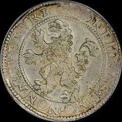 Finest And Only @ Ngc And Pcgs Ms62 1626 Netherlands Lion 1d Daalder Friesland Toned