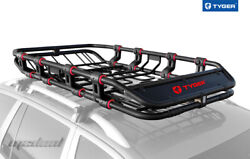 Tyger Xl Roof Mounted Cargo Basket Luggage Super Duty - Extendable 68x41x8
