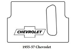 1955 1957 Chevrolet Trunk Rubber Floor Mat Cover With G-010 Chev Bowtie