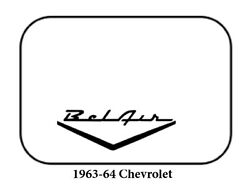 1963 1964 Chevrolet Trunk Rubber Floor Mat Cover With G-016 Belair Wing