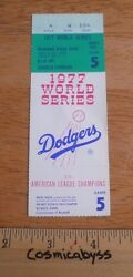 Los Angeles Dodgers 1977 World Series Game 5 Ticket Yankees Signed