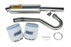 Sparks Racing Stage 1 Power Kit Ss Big Core Exhaust Honda Trx450r 2004-2005