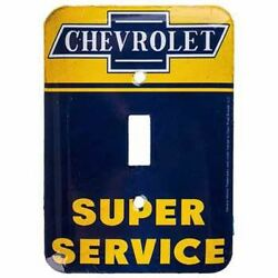 CHEVROLET LIGHT SWITCH COVER PLATE X 4 DECOR SIGNS GAS PUMP Dad.