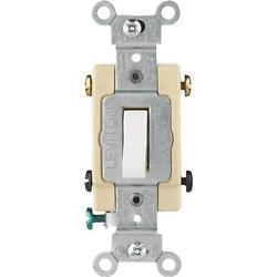 10 Pk Leviton White 15a Grounded Quiet 4-way Toggle Light Switch S02-cs415-2ws