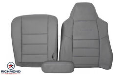2004 Ford F250 4x4 Lariat Diesel -driver Side Complete Leather Seat Covers Gray