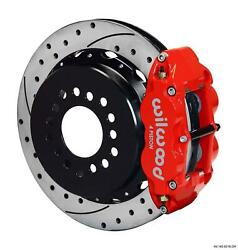 Wilwood Rear Disc Big Brake Kit Ford 9 Big New Style W/ 2.36 Offset Drill Red