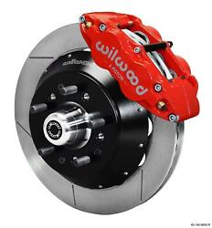 Wilwood 64-72 Chevelle A-body Front Disc Big Brake Kit 14 Plain Rotor Red