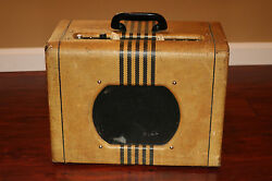 1955 Supro Valco Supro Model 1666 Airline Tweed Tube Amplifier