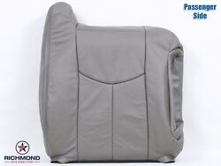 03-07 Chevy Silverado 1500hd Lt Ls -passenger Lean Back Leather Seat Cover Gray