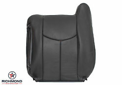 03-06 Chevy Avalanche 2wd Z66-driver Side Lean Back Leather Seat Cover Dark Gray