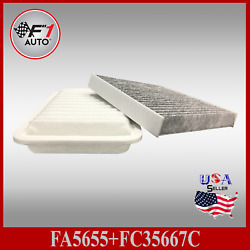 Auto1tech Engine And Carbon Cabin Air Filter Fits Toyota Corolla 2009-2019 Matrix