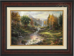 Thomas Kinkade Reflections Of Family 18 X 27 Limited Edition G/p Framed Canvas
