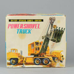 Antique Tin Toy Construction Power Shovel Truck Japan Swallow Toys Ford