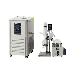 5L Rotary Evaporator Manual Lifting Turnkey Package w/ Chiller