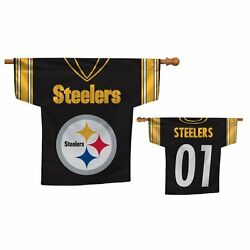 Pittsburgh Steelers 2 Sided Jersey House Banner Flag