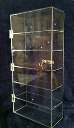 Usa- Reduced Reduced ..acrylic Display Case 12x 6.5x23.5lock Collectibles