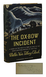Signed The Ox-bow Incident Walter Van Tilsburg Clark First Edition 1st 1940