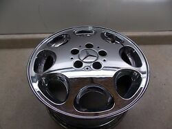 1997 Mercedes Benz SL320 R129 Wheel (CHROME) Part # 124 401 14 02 ***PITTED BAD