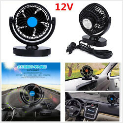 1x Portable 12V Mini Car Fan 2 Speed Strong Wind Car Air Conditioner Cooling Fan