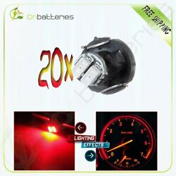 20pcs T3 Red Neo Wedge LED Bulb Dashboard A/C Climate Control Base Lights Lamp