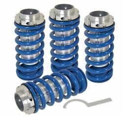 93-97 Corolla Adjustable Lowering Spring Coil Over Sleeves Jdm Scaled Set Blue