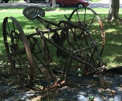 Antique Horse Drawn Cultivator In Good Condition. Great Yard Decor.