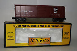 Mth Rail King O Scale 30-7418 Pennsylvania Rounded Roof Box Car