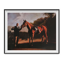 Tony Soprano And Pie O My Horse Painting Poster The Sopranos Race 18quot; x 24quot; Wall