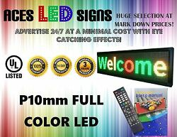 Led Sign 14 X 65 Programmable Scroll Message Board Full Color P10mm