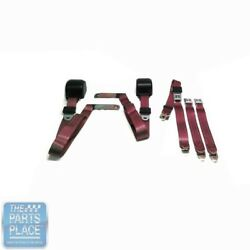 1978-88 Gm G Body Cars Factory Style Front Bench Seat Belt - Maroon