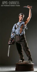 Sideshow Exclusive Army Of Darkness Ash Premium Format Figure Statue Movie Bust