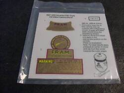 Fram Oil Filter Decal Original Color And Style For Housing Gm Models