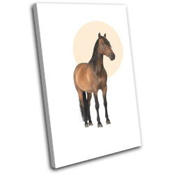 Horse Equine Modern Abstract Animals Single Canvas Wall Art Picture Print