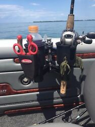 Robocup Black Caddy Cup Drink Boat Fishing Pole Rod Holder Case Storage