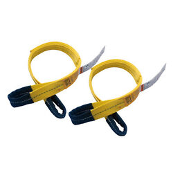 2 Pcs 2 X 3and039 Polyester Lifting Sling Eye And Eye 2 Ply Tow Strap